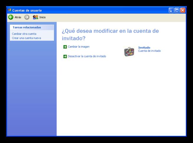 Windows XP desactivar cuenta invitado foto 2