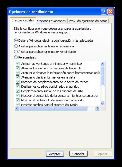 Windows XP mejorar rendimiento foto 2