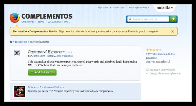 Exportar contraseñas Firefox foto 1