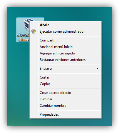Windows Vista ejecutar como administrador foto 1