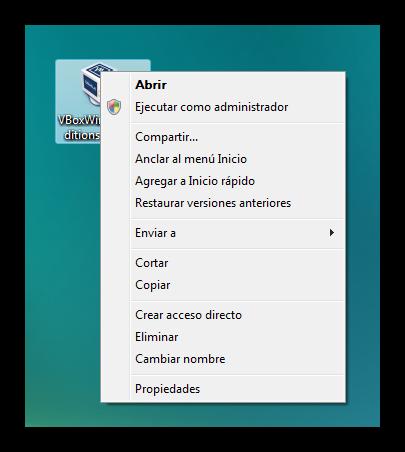 Windows Vista ejecutar como administrador foto 1