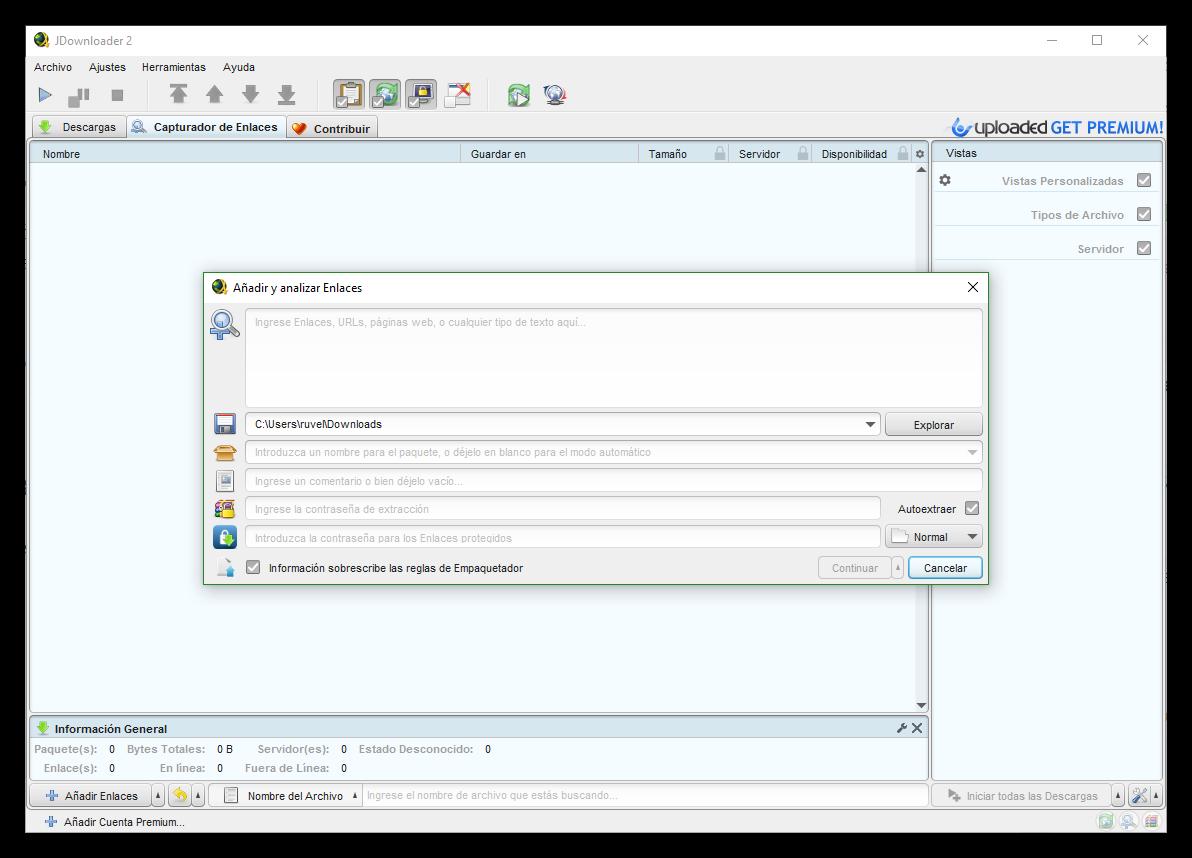 Manual JDownloader para configurarlo y descargar de Mega, Uploaded ...