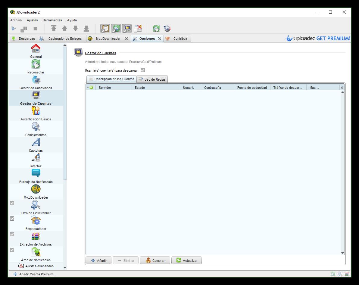 Manual JDownloader para configurarlo y descargar de Mega, Uploaded y más
