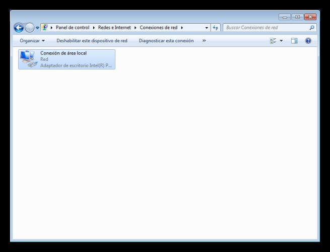 Adaptadores de red de Windows 7