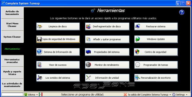 Programas Libres y GNU para probarlos y usarlos con Windows. Complete-system-tuneup-herramientas