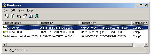 ProduKey - Небольшая программа, показывающая ProductID и CD-Key