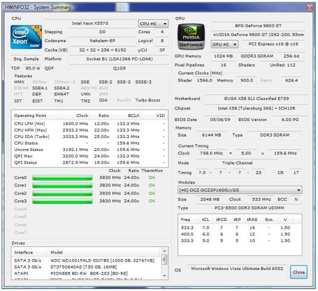 hwinfo32 información y testeo de hardware