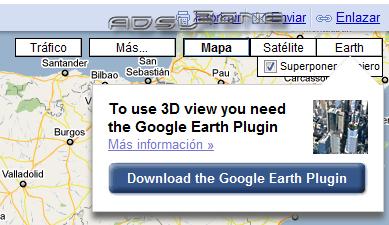 Google earth ya est disponible desde google maps los chicos de google siguen mejorando uno de sus productos estrella google maps en esta ocasin su forma de celebrar el da de la tierra aunque con algo gumiabroncs Gallery