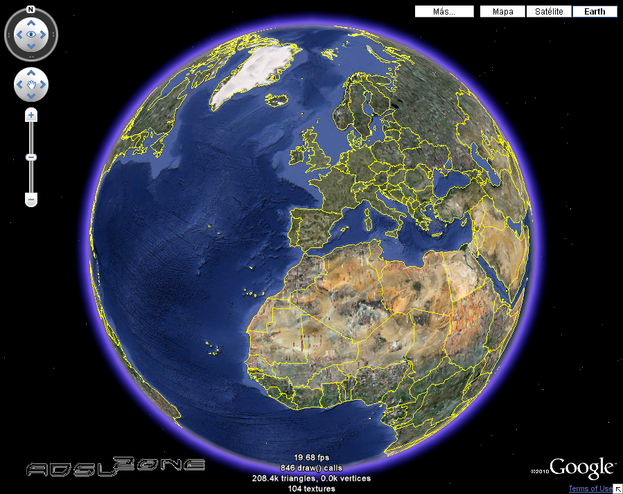 3d earth google 2010