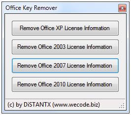 Eliminar clave de office
