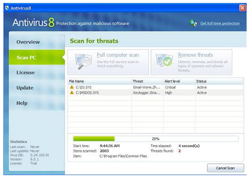 Antivirus 8 Programa falso