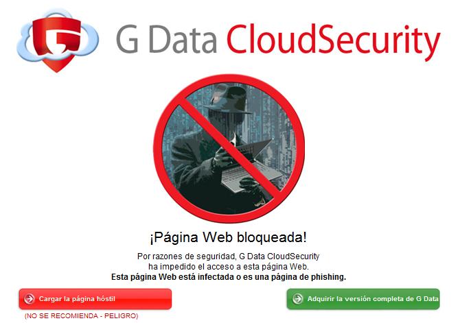 G Data CloudSecurity Alerta
