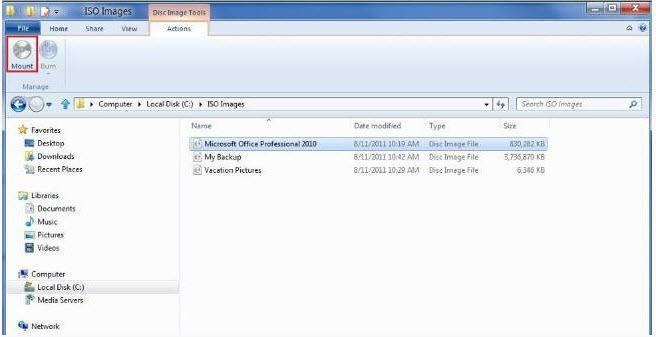 Montar ISO-VHD en Windows 8