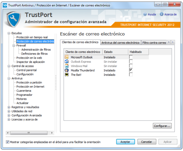 TrustPort Internet Security proteccion correo