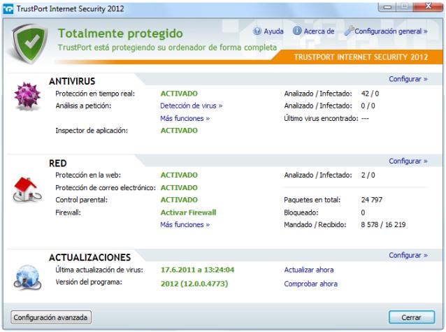 TrustPort Internet Security principal
