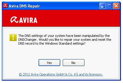 Avira DNS Repair