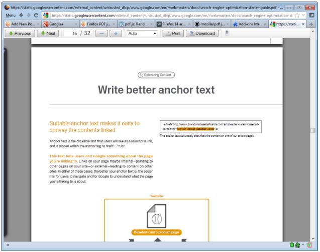 Firefox visor PDF