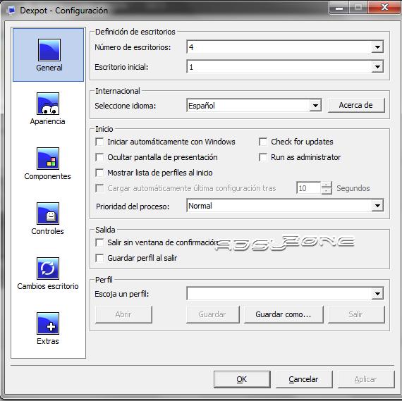 dexpot configuracion