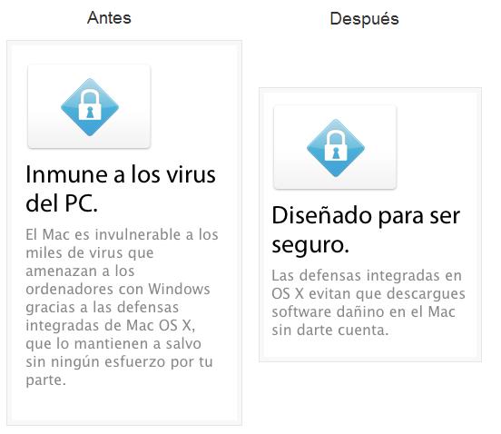 Mac OS Publicidad