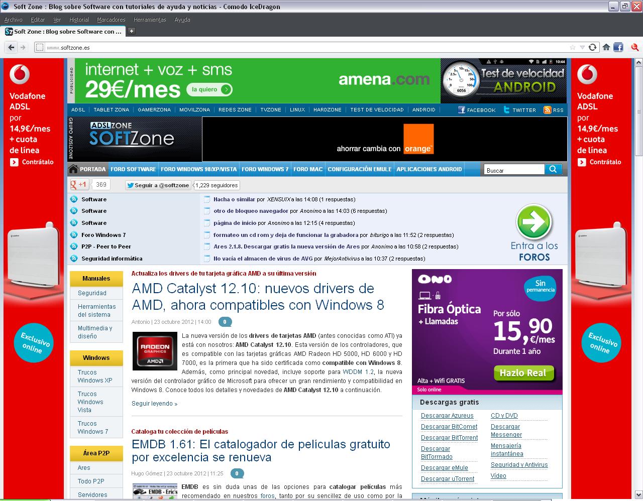 Comodo IceDragon 16.1.1: seguro navegador basado en Mozilla Firefox Comodo_IceDragon_interfaz
