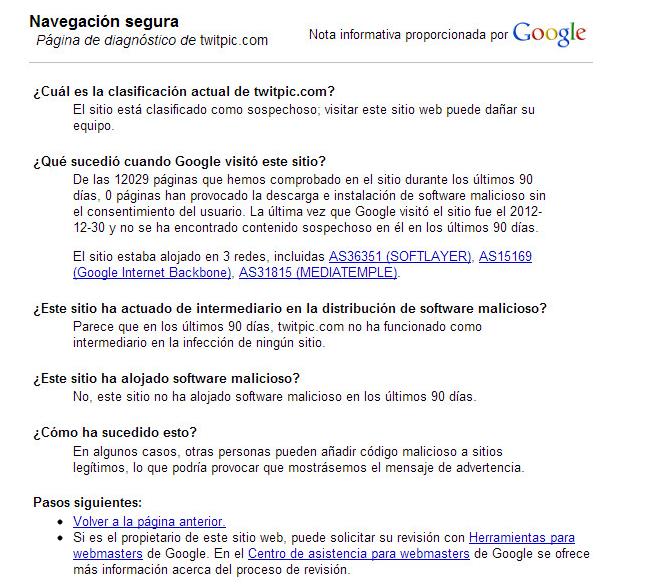 error google chrome twitpic