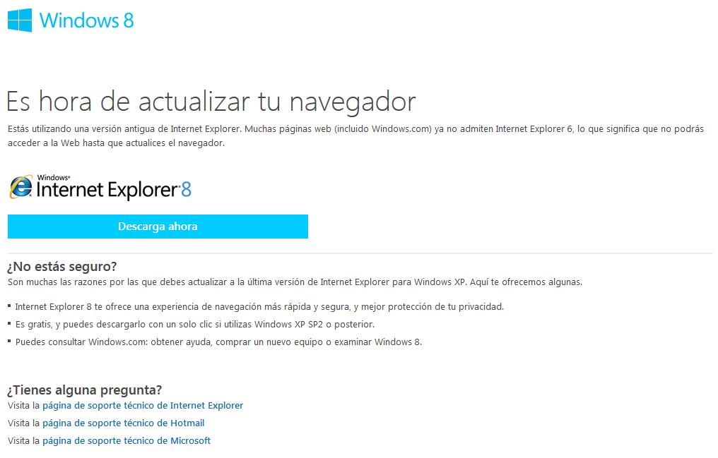 internet explorer upgrade