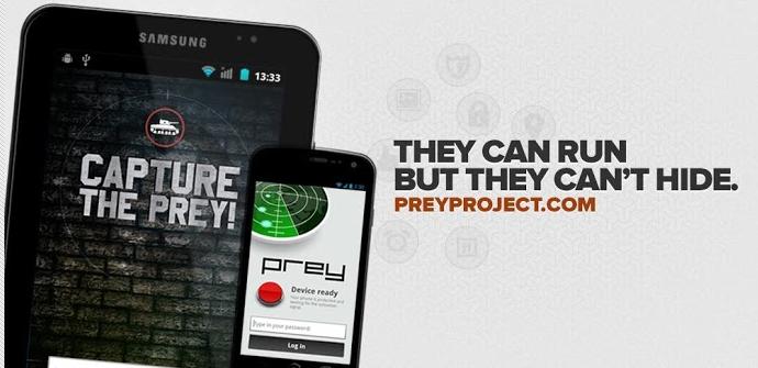 Prey sistema antirobo smartphone android