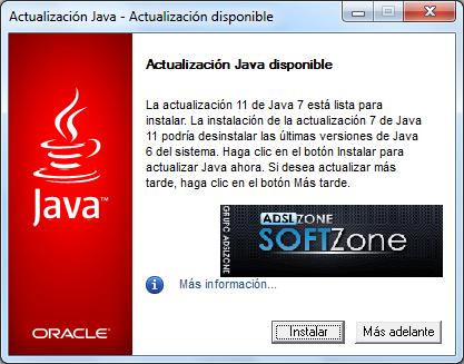 Actualizacion Java