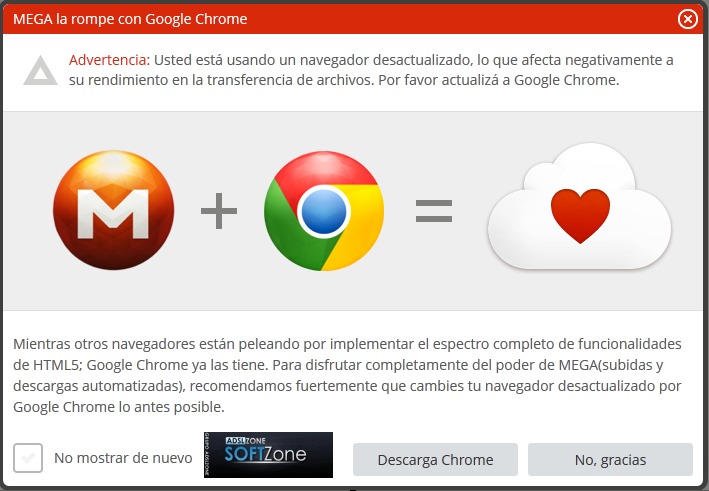 consejo google chrome mega