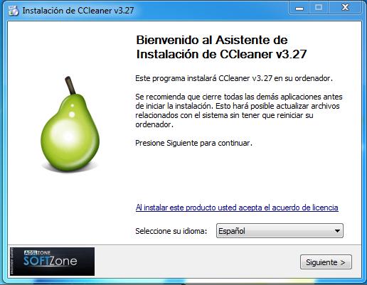 instalación ccleaner