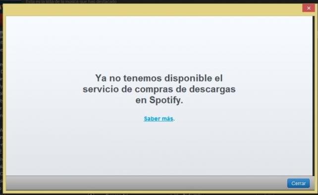servicio cerrado spotify