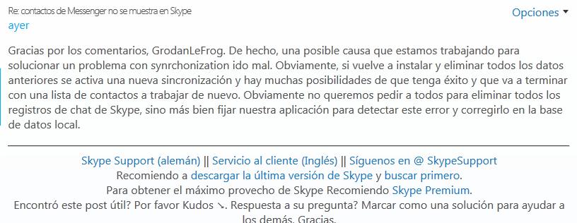 foros skype Windows live