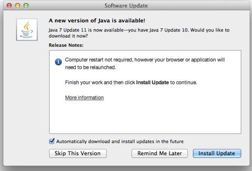 Update 11 Java