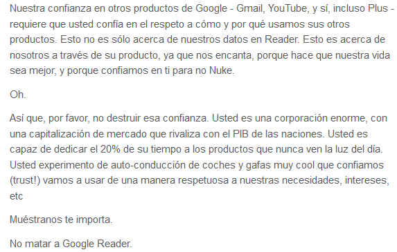 post dan lewis google reader