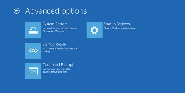 sin opción de imagen windows blue