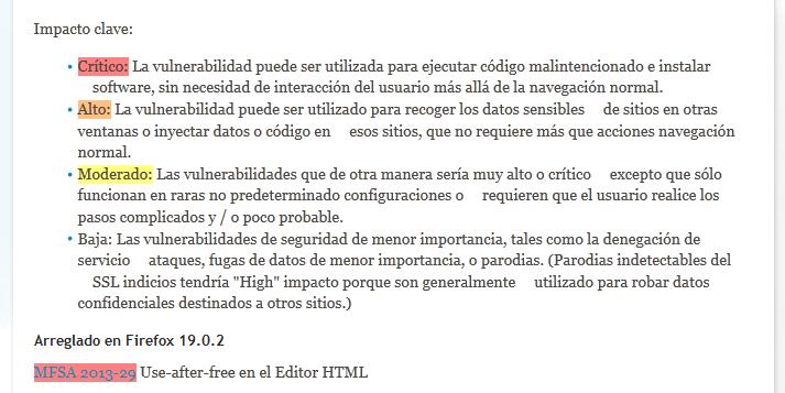 vulnerabilidades firefox 19.0.2
