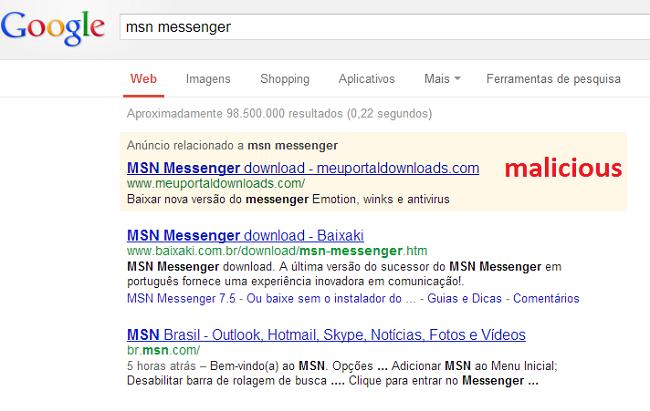 MSN en Google