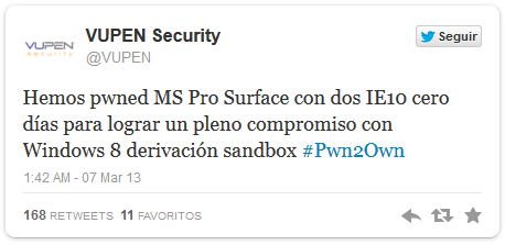 exploit surface pro e IE 10