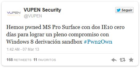 exploit surface pro e IE 10