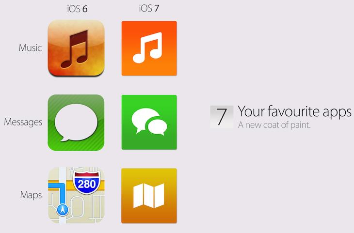 iOS 6 vs iOS 7