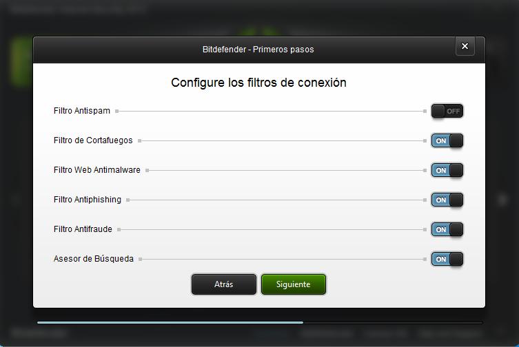 filtros de conexión bitdefender