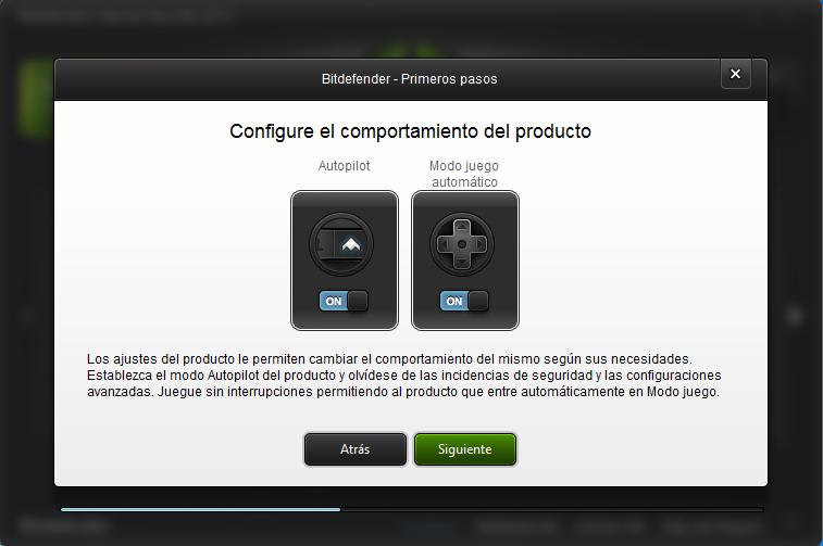 ajustes producto bitdefender