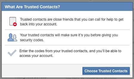 trusted contacts online