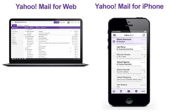 Nuevo Yahoo Mail para web y iPhone