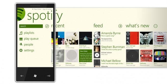 Spotify en Windows Phone 8