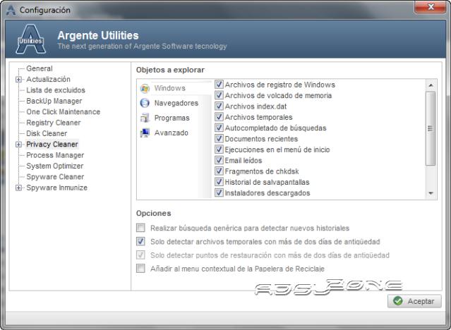 argente utilities configurar privacidad