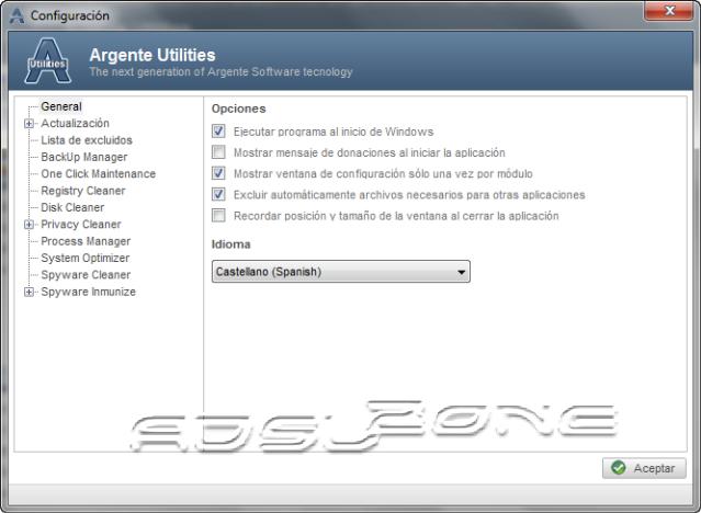 configuración argente utilities