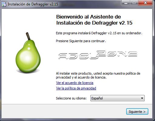 instalación defraggler en español