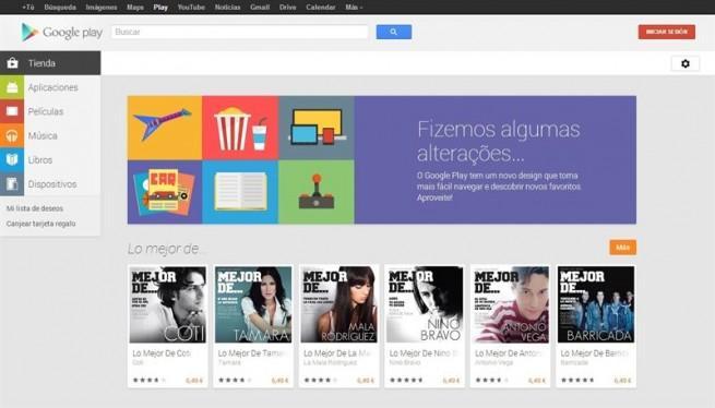 Nueva imagen de Google Play