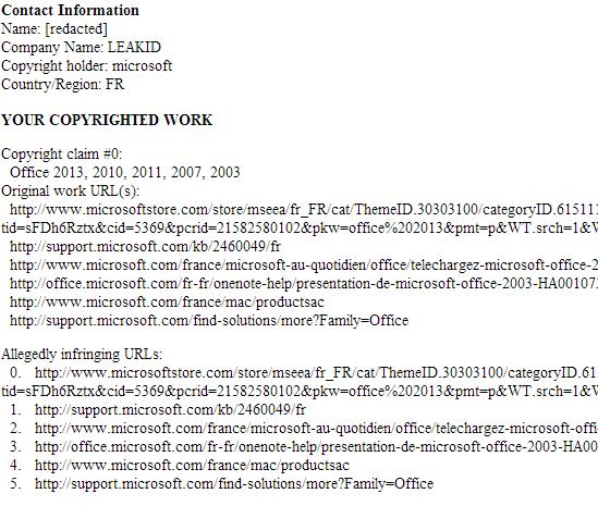 Microsoft ordena retirar enlaces propios a Google